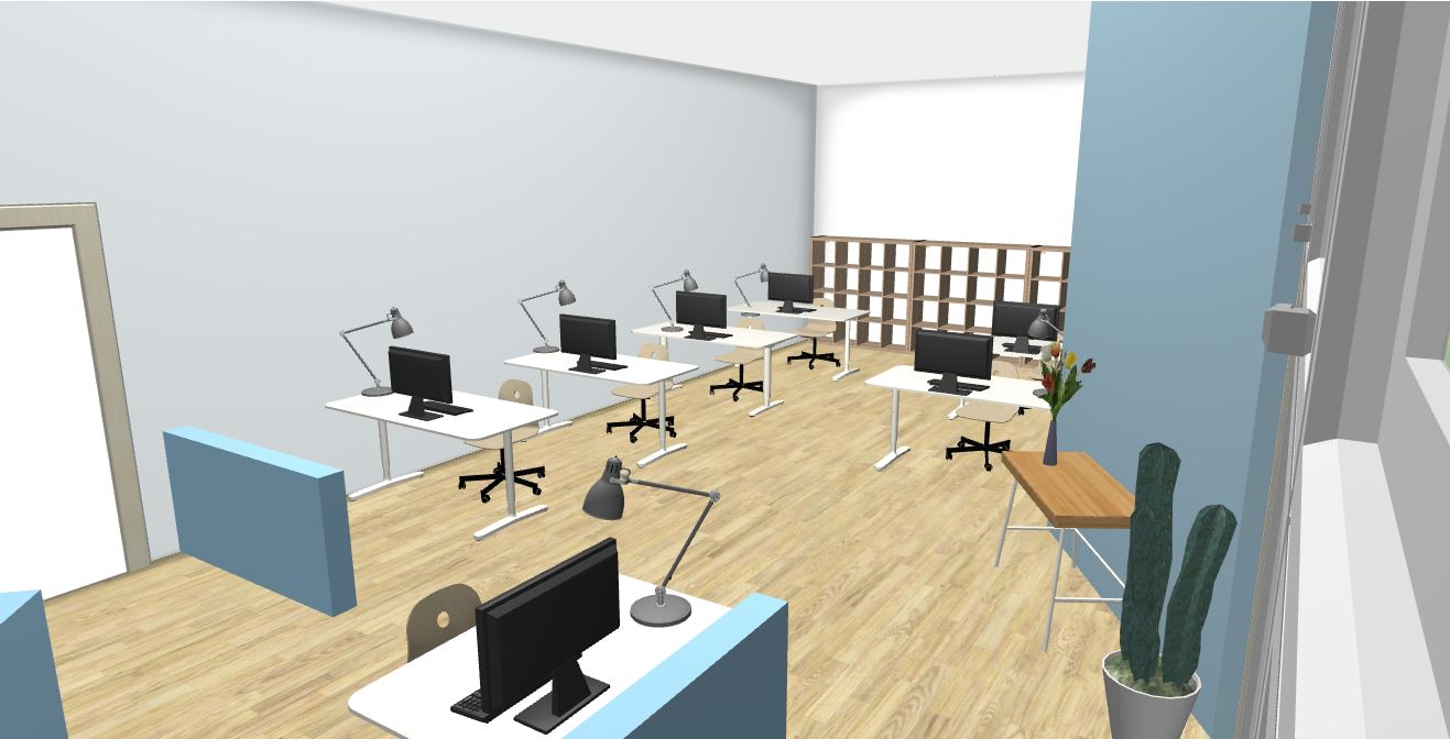 Unit 103 Office Rendering