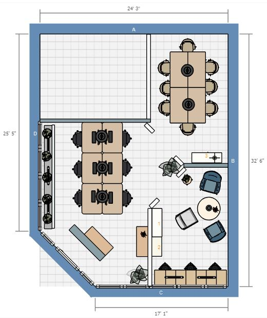 Unit 111 floor plan idea
