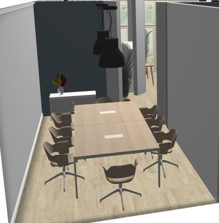 Unit 111 - Rendering of meeting room